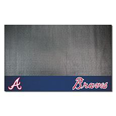 Officially Licensed MLB Vinyl Grill Mat  - Atlanta Braves