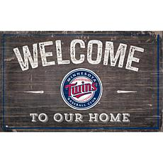 Officially Licensed MLB Welcome to our Home Sign - Minnesota Twins