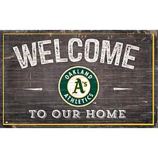 Officially Licensed MLB Welcome to our Home Sign - Oakland Athletics