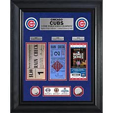 Officially Licensed MLB WorldSeries Silver Coin/Ticket Collection Cubs