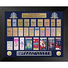 Officially Licensed MLB WS Gold Coin & Ticket Collection - Yankees