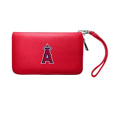 Officially Licensed MLB Zip Organizer Wallet - Los Angeles Angels