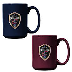 Officially Licensed NBA  15 oz. Team Colored Mug Set - Cavaliers