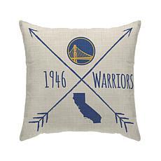 "Officially Licensed NBA 18""x18"" Duck Cloth Décor Pillow -Warriors"