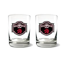 Officially Licensed NBA 2019 Champs Rocks Glass Set