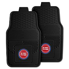 "Officially Licensed NBA 2pc Car Mat Set 17"" x 27"" - Detroit Pistons"