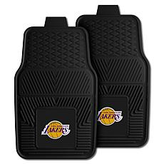 """Officially Licensed NBA 2pc Car Mat Set 17"""" x 27"""" - Los Angeles Lakers"""