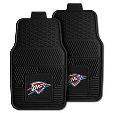 "Officially Licensed NBA 2pc Car Mat Set 17"" x 27"" - OKC Thunder"