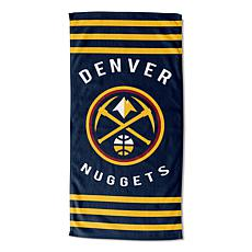Officially Licensed NBA 620 Stripes Beach Towel - Nuggets