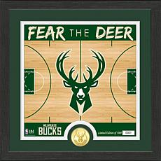Officially Licensed NBA Bucks Battle Cry Bronze Coin Photo Mint