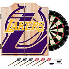 Officially Licensed NBA Dart Cabinet Set - Fade - Los Angeles Lakers