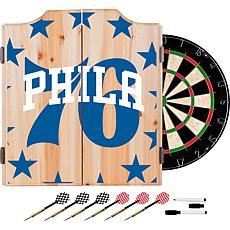 Officially Licensed NBA Dart Cabinet Set - Fade - Philadelphia 76ers