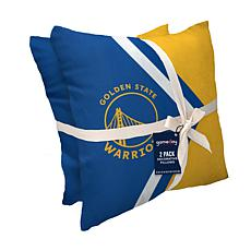Officially Licensed NBA Décor Pillow 2-Pack - Golden State Warriors