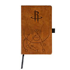 Officially Licensed NBA Engraved Brown Notebook - Houston Rockets