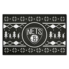 Officially Licensed NBA Holiday Sweater Starter Mat- Brooklyn Nets