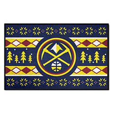 Officially Licensed NBA Holiday Sweater Starter Mat- Denver Nuggets