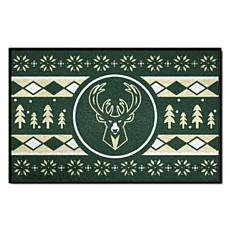 Officially Licensed NBA Holiday Sweater Starter Mat- Milwaukee Bucks