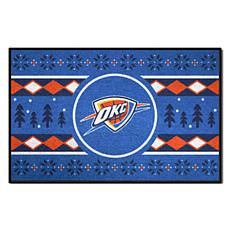 Officially Licensed NBA Holiday Sweater Starter Mat- Thunder