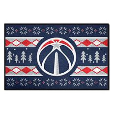 Officially Licensed NBA Holiday Sweater Starter Mat- Wizards