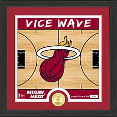 Officially Licensed NBA Miami Heat Battle Cry Bronze Coin Photo Mint
