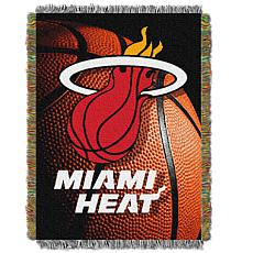 """Officially Licensed NBA """"Photo Real"""" Woven Tapestry Throw - Heat"""