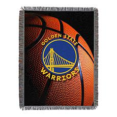 """Officially Licensed NBA """"Photo Real"""" Woven Tapestry Throw - Warriors"""