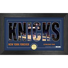 Officially Licensed NBA Silhouette Bronze Coin Photo Mint - NY. Knicks