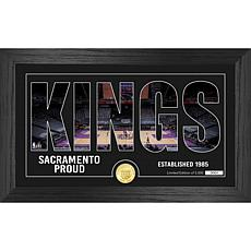 Officially Licensed NBA Silhouette Bronze Coin Photo Mint - Sacramento