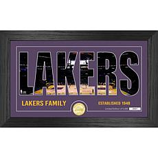Officially Licensed NBA Silhouette Bronze Coin Photo Mint - LA. Lakers