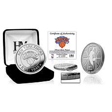Officially Licensed NBA Silver Mint Coin - New York Knicks