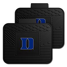 Officially Licensed NCAA  2-pc Heavy Duty Vinyl Utility Mat Set - Duke