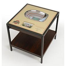 Officially Licensed NCAA 25-Layer StadiumViews End Table - Ohio State