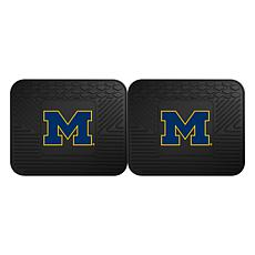 Officially Licensed NCAA  2pc Heavy Duty Vinyl Mat Set-Un. of Michigan
