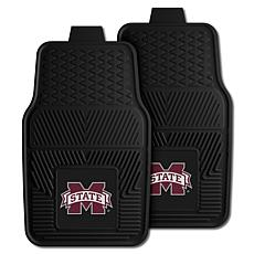 Officially Licensed NCAA 2pc Vinyl Car Mat Set - Mississippi State