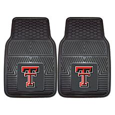 Officially Licensed NCAA 2pc Vinyl Car Mat Set - Texas Tech