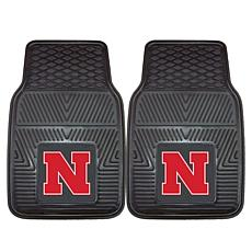 Officially Licensed NCAA  2pc Vinyl Car Mat Set - Un. of Nebraska