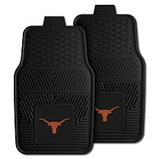Officially Licensed NCAA  2pc Vinyl Car Mat Set - University of Texas