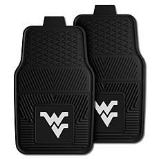 Officially Licensed NCAA  2pc Vinyl Car Mat Set - West Virginia Un.