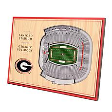 Officially-Licensed NCAA 3-D StadiumViews Display - Georgia Bulldogs