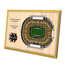 Officially-Licensed NCAA 3-D StadiumViews Display - Notre Dame