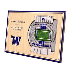Officially-Licensed NCAA 3-D StadiumViews Display - Washington Husk...