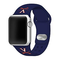 Officially Licensed NCAA 38/40mm Navy Apple Watch Band - VA Cavaliers