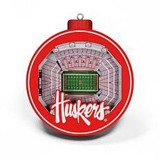 Officially Licensed NCAA 3D StadiumView Ornament 2-pack - Nebraska