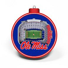 Officially Licensed NCAA 3D StadiumView Ornament 2-pack - Mississippi