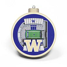Officially Licensed NCAA 3D StadiumView Ornament 2-pack - Washington