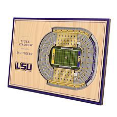 Officially-Licensed NCAA 3D StadiumViews Display - LSU Tigers