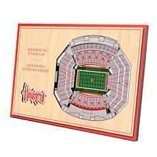 Officially-Licensed NCAA 3D StadiumViews Display- Nebraska Cornhusk...