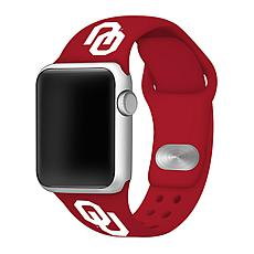 Officially Licensed NCAA 42/44mm Silicone Apple Watch Band - Oklahoma