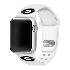 Officially Licensed NCAA 42mm/44mm Silicone Apple Watch Band - Georgia