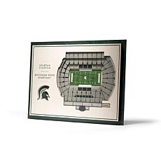 Officially Licensed NCAA 5-Layer StadiumViews Art - MI State Spartans